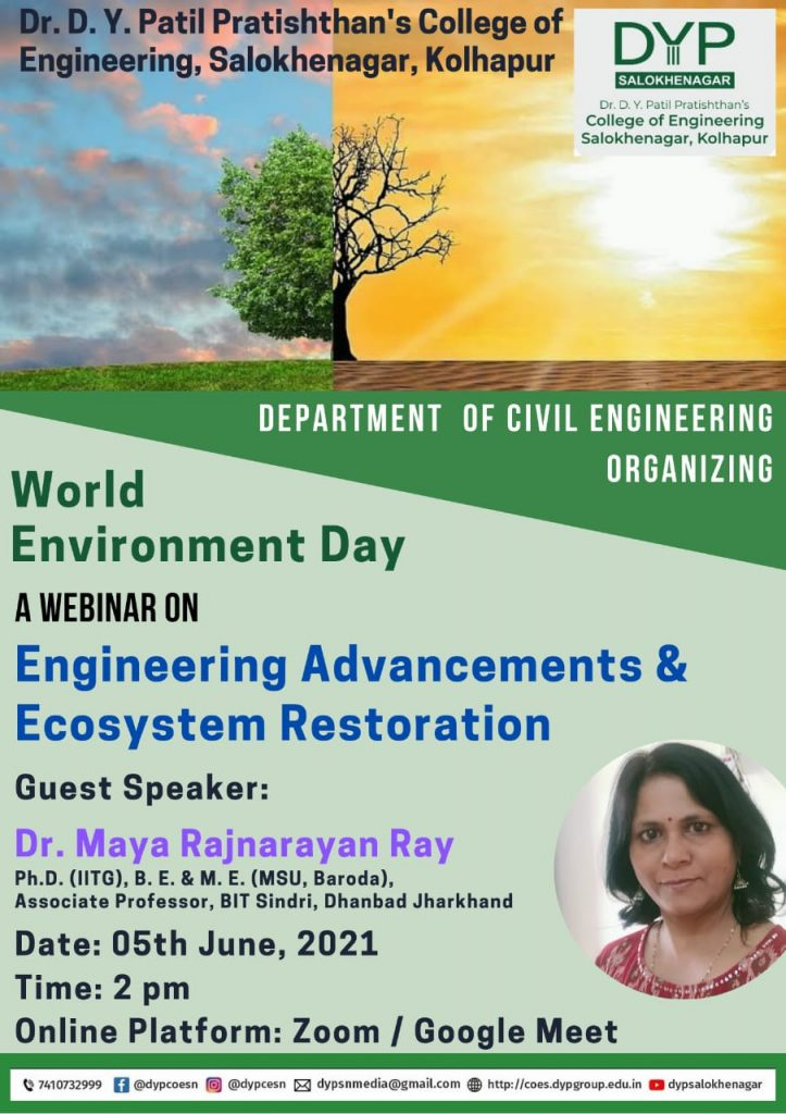 Webinar on World Environmental Day